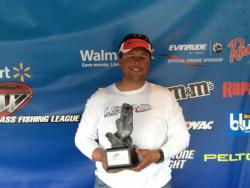 Co-angler Earnest Jones of Blythewood, S.C., won the March 2 South Carolina Division event on Lake Murray with a total weight of 10 pounds, 1 ounce. For his victory, Jones walked away with over $1,600 in prize money.