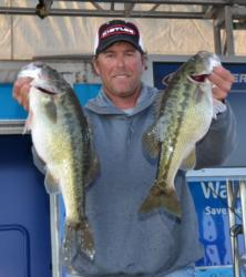 Randy Haynes sits in fourth place after catching a 16-pound, 2-ounce limit.