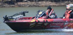 Fifth-place pro Randy Blaukat runs north Friday afternoon.