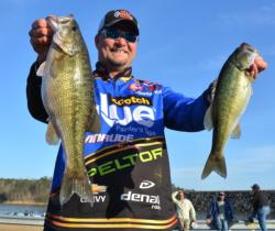 FLW Tour pro Ray Scheide heads straight to the bank when the water rises.