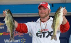 Co-angler Anthony Goggins caught a 15-pound limit on day three and finished the Smith Lake event in second place.