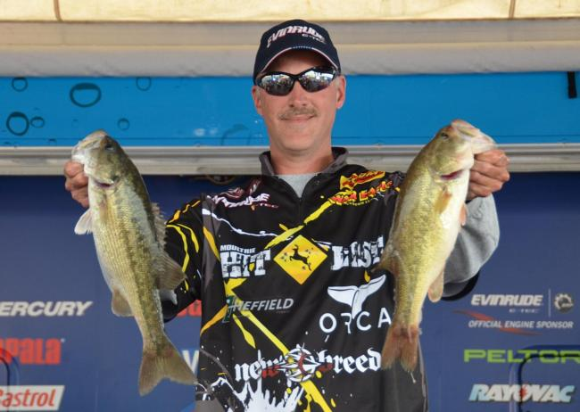 Andy Morgan caught a 12-pound, 13-ounce limit to make the top-10 cut in seventh place.