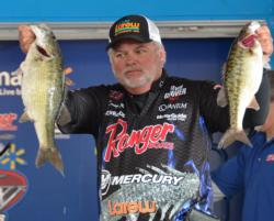 Tommy Biffle sits in fifth place with a three-day total of 37 pounds, 8 ounces.