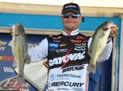 Jason Christie caught a 14-pound, 7-ounce stringer Sunday and rose from 10th to fourth, earning $25,000.