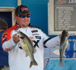 Jacob Powroznik rode spotted bass to a second-place finish at Smith Lake.
