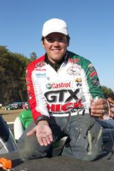 Castrol pro Philip Jarabeck shows off his jigheads of choice.