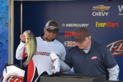 Chuck Austin rounds out the top 5 on day one, his limit of bass went for 19 pounds, 9 ounces.