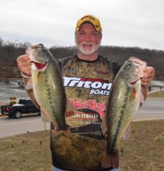 Bob Richardson caught 17 pounds, 14 ounces on day one and nearly matched that with 17-10 on day two. With a two-day total of 35-8, Richardson is within striking distance of Tucker, especially if he can catch a limit.