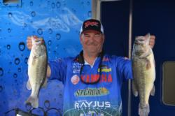 Dennis Berhorst has posted nearly identical catches on days one and two of 17 pounds, 7 ounces and 17-8, respectively. He know has a two-day total of 34-15 and third place as he heads into the final round.