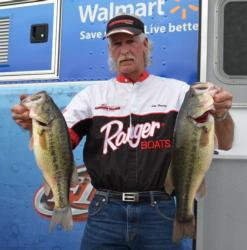 Jim Young of House Springs, Mo., now sits in fourth with a two-day total weight of 34 pounds, 4 ounces.