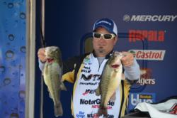 Shawn Kowal followed the footsteps of many today and only brought in four bass that weighed 13-5. He now has a total of 33-8 for the week.