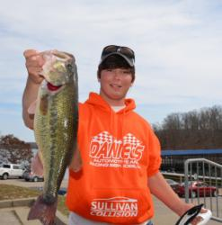 Michael Stricklin of Vidalia, La., brought three nice fish to the stage on day two that included one over 5 pounds.