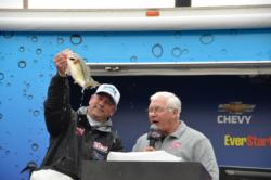 Despite catching one fish that weighed 2-11 on the final day, Tim Beale still won by over 7 pounds with a three-day total of 33-6.