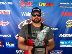 Co-angler Doron Pardo of Monroe, La., won the March 23 Cowboy Division event on Sam Rayburn with only four bass that weighed 15 pounds. Pardo walked away with over $2,000 for his victory.