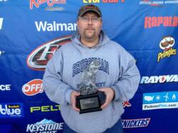 Co-angler Todd Bruggeman of Evansville, Ind., won the March 23 Hoosier Division event on Lake Patoka with two fish that weighed 10 pounds, 4 ounces. For his victory, Bruggeman earned a check for over $2,200.