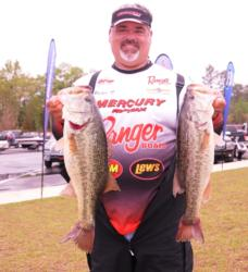 Pro Pete Thliveros of St. Augustine, Fla., rounds out the top five with five bass for 21 pounds, 9 ounces.