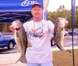 Pro Tony Davis of Williston, Fla., is in fourth place with a two-day total of 37 pounds, 8 ounces.