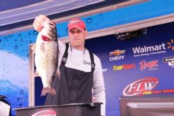 Co-angler Alan Hults of Gautier, Miss., leads yet another EverStart Series event thanks to a 23-pound, 6-ounce catch today.