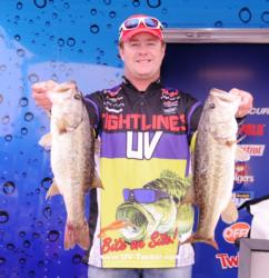 Pro Barry Wilson of Birmingham, Ala., rounds out the top five with a two-day total of 37 pounds, 7 ounces.
