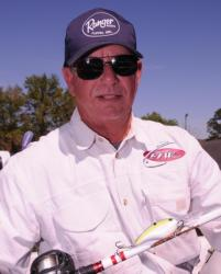 Robert Tindell with his key winning lure: a Strike King 6XD.