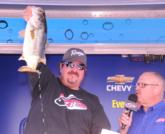 Co-angler Joe Ventrello of Orlando, Fla., finished second with a three-day total of 39 pounds, 12 ounces.