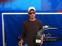 Co-angler Asa Coxwell of Martinez, Ga., took home the trophy at the April 6 Savannah River Division event on Lake Russell with a 16-pound, 10-ounce limit. He walked away with a check worth almost $2,400 for his victory.