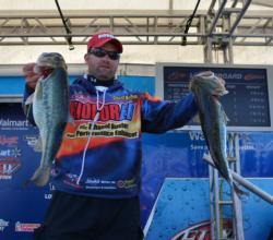 Chris Brasher posted a 16-6 catch after day one on Beaver Lake.