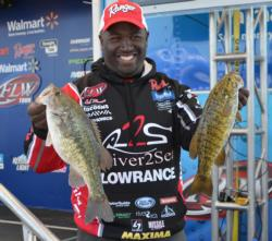 Ishama Monroe made the cut in 16th place with a two-day total of 10 bass weighing 25 pounds, 5 ounces.