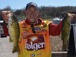 Folgers pro Scott Suggs made the top-20 cut on Beaver Lake with smallmouths.