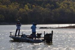 Beaver Lake champion Jason Christie targeted flat points that ran into the main river channel.