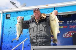 Second-place pro Jeff Cade started his day with an 8-pound, 9-ounce bass in the first 30 minutes.