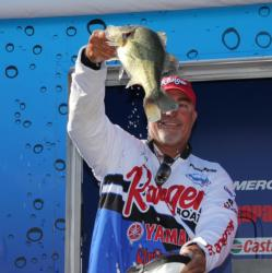 Tim Reneau caught most of his fish on a Strike King Titanium umbrella rig.