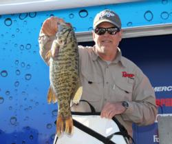 Second-place pro Jeff Cade caught a whopper smallmouth on day three.