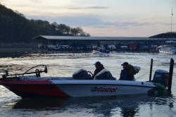 Auburn University heads out on the final day of national championship competition on Beaver Lake.