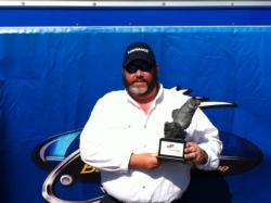 Co-angler Greg Ray of Bandy, Va., won the April 20 Volunteer Division event on South Holston with a 16-pound, 6-ounce limit. Ray earned himself a check worth over $1,800 for his victory.