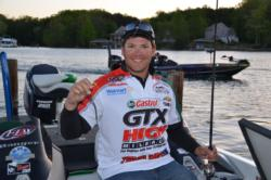 Castrol pro Philip Jarabeck hopes to pluck a few bass of beds with his shaky head.