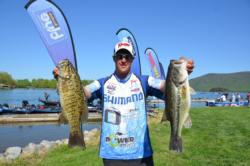 Cory Johnston bested his brother on day one with 18 pounds, 4 ounces to sit in a tie for second.