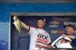 Castrol pro Philip Jarabeck caught this kicker on a spinnerbait to move him up the leaderboard rounding out the top five.