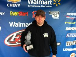 Co-angler Joe Dietz of Ofallon, Mo., won the April 27 Ozark Division event on Stockton Lake with four bass that weighed 9 pounds, 5 ounces. For his efforts, Dietz earned a check worth over $1,600.