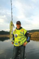 Scott Canterbury says to be ready when the shad spawn because they usually quit when the sun gets up.