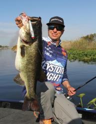 Brent Ehrler targets gill beds for hungry bass.