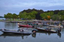 EverStart Series anglers await the start of takeoff.