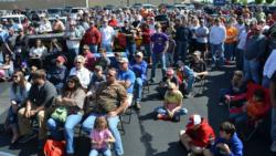 A capacity crowd was on hand to witness final weigh-in at the EverStart Pickwick Lake event.