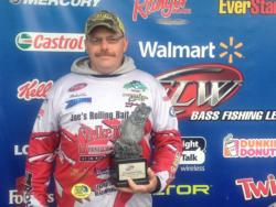 Co-angler Michael Cox of Selma, N.C., captured the Walmart BFL North Carolina Division tournament title on Lake Wylie with a total catch of 12 pounds, 14 ounces.