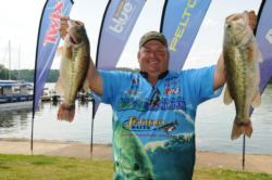 Jeff Fitts of Keystone Heights, Fla., holds down the fourth place spot on day one with a five-bass limit weighing 20 pounds, 2 ounces.