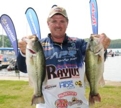 Scott Towry of Lawrenceburg, Tenn., leads the Co-angler Division of the EverStart Series Southeast event on Wheeler Lake after day two with a two-day total of 33 pounds.