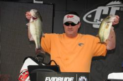Co-angler Tony Prince of Pulaski, Tenn., finished second with a three-day total of 44 pounds, 11 ounces.
