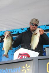 Targeting post-spawn bass, Sean Stafford knew the wind and cloud cover would help his cause.