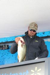 Day-one leader Sean Stafford caught his weight fish on moving baits.