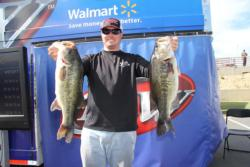 Third-place pro Miles Howe started his day fishing Senkos, but culled up when he switched to reaction baits.